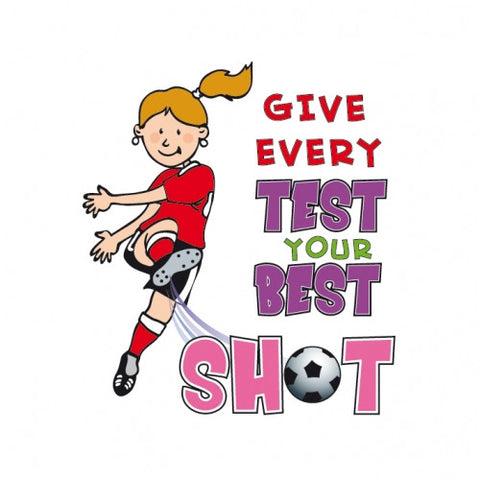 """Give Every Test Your Best Shot"" temporary tattoo (Girl)"