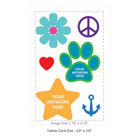"Custom Temporary Tattoos 2"" x 3"""