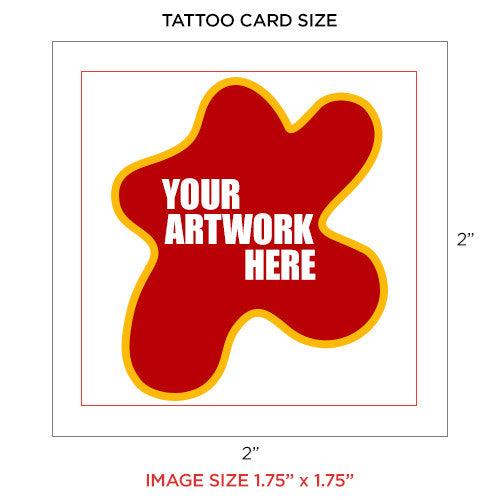 custom temporary tattoo image, size 2 x 2