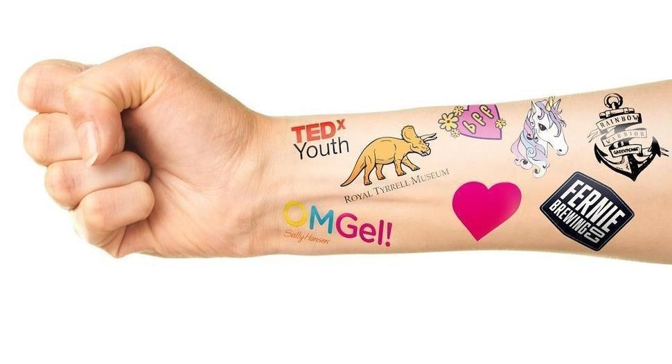 Custom temporary tattoos Canada information and photos