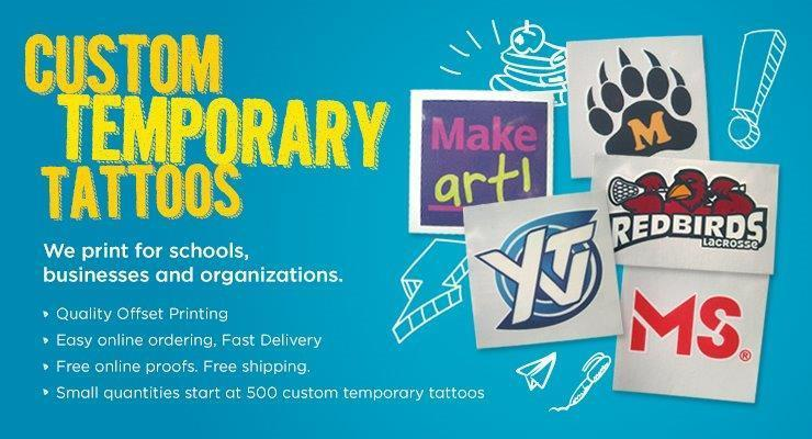 Photo custom temporary tattoos