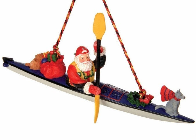 Sea Kayaking Santa Decoration