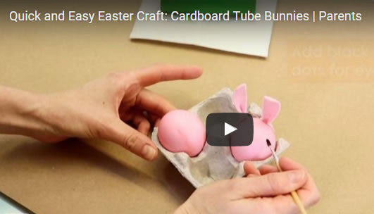 Video DIY Easter Craft: Tube Bunnies