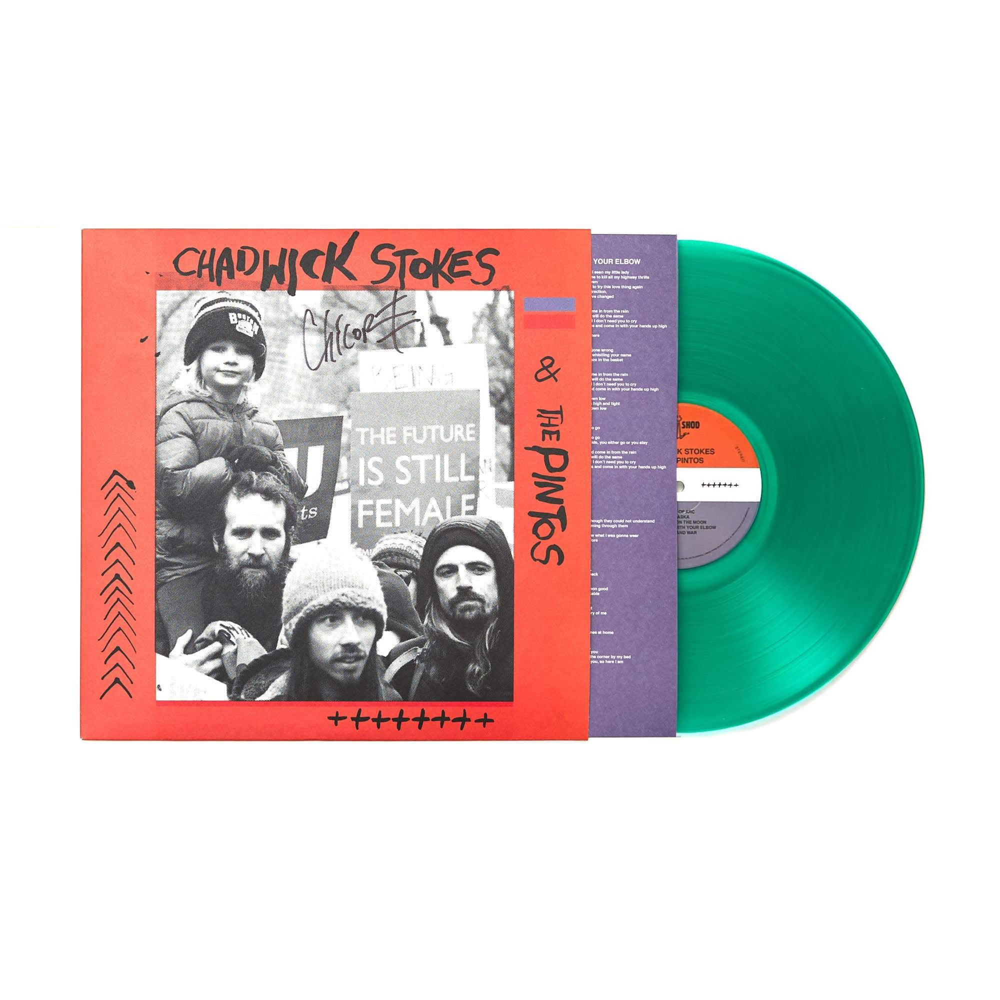 "Chadwick Stokes & The Pintos 'Self-Titled' 12"" Vinyl LP - Translucent Green"