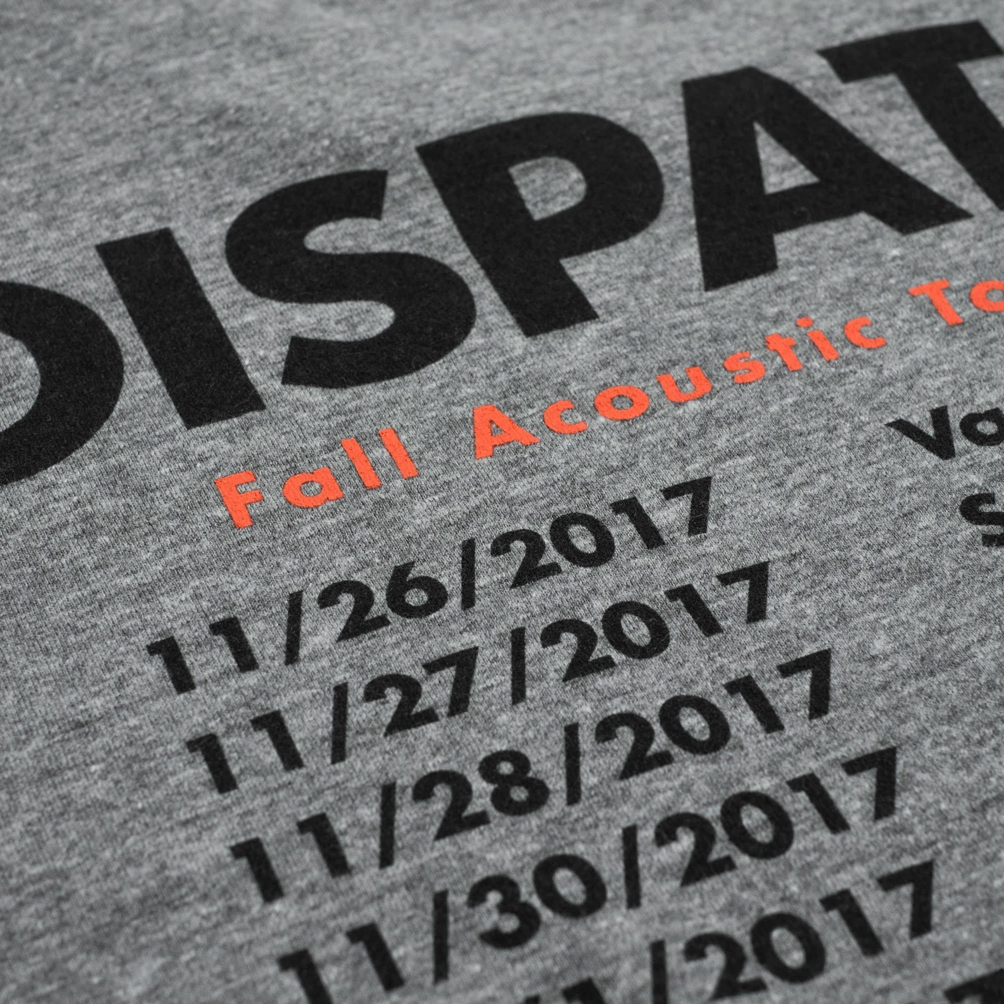 'Acoustic Tour 2017' T-Shirt - Grey