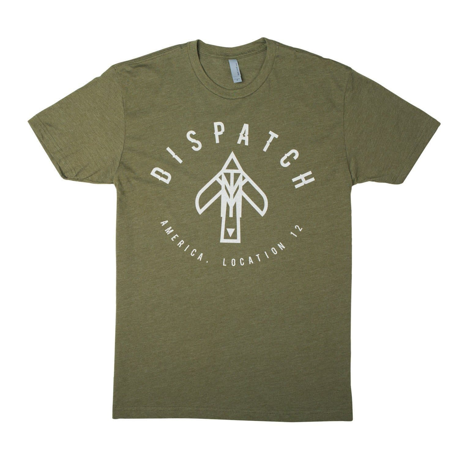 'Bird' Logo T-Shirt - Military Green