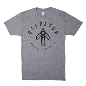 'Bird' Logo T-Shirt -  Heather Grey