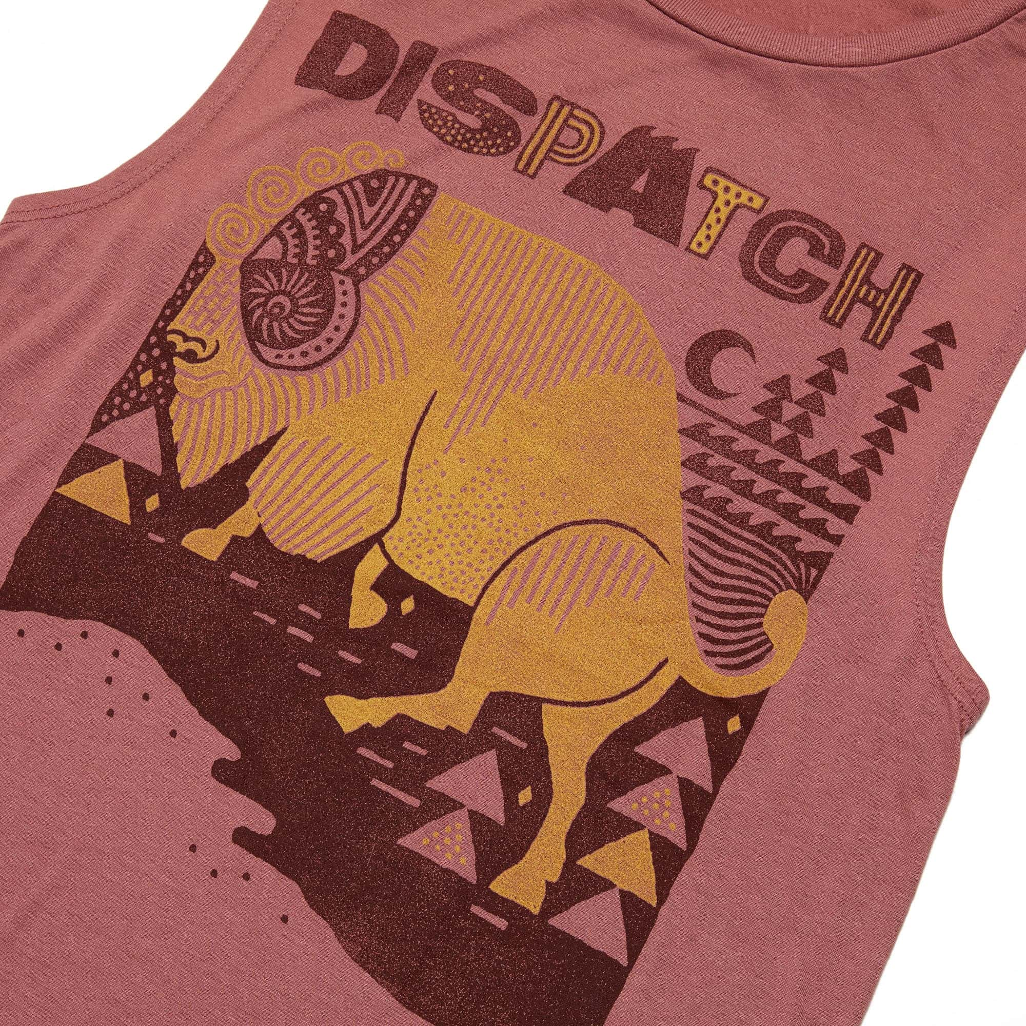 'Bison' Women's Flowy Scoop Muscle Tank