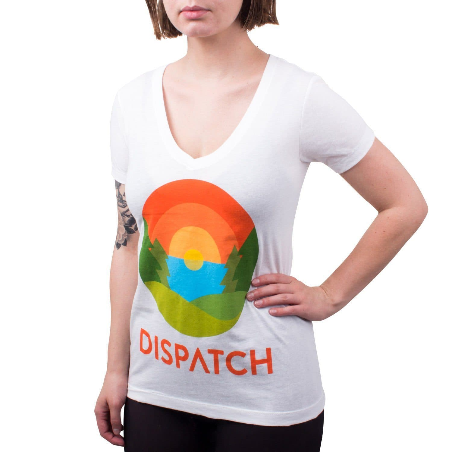 'Forest' Women's V-Neck Tee