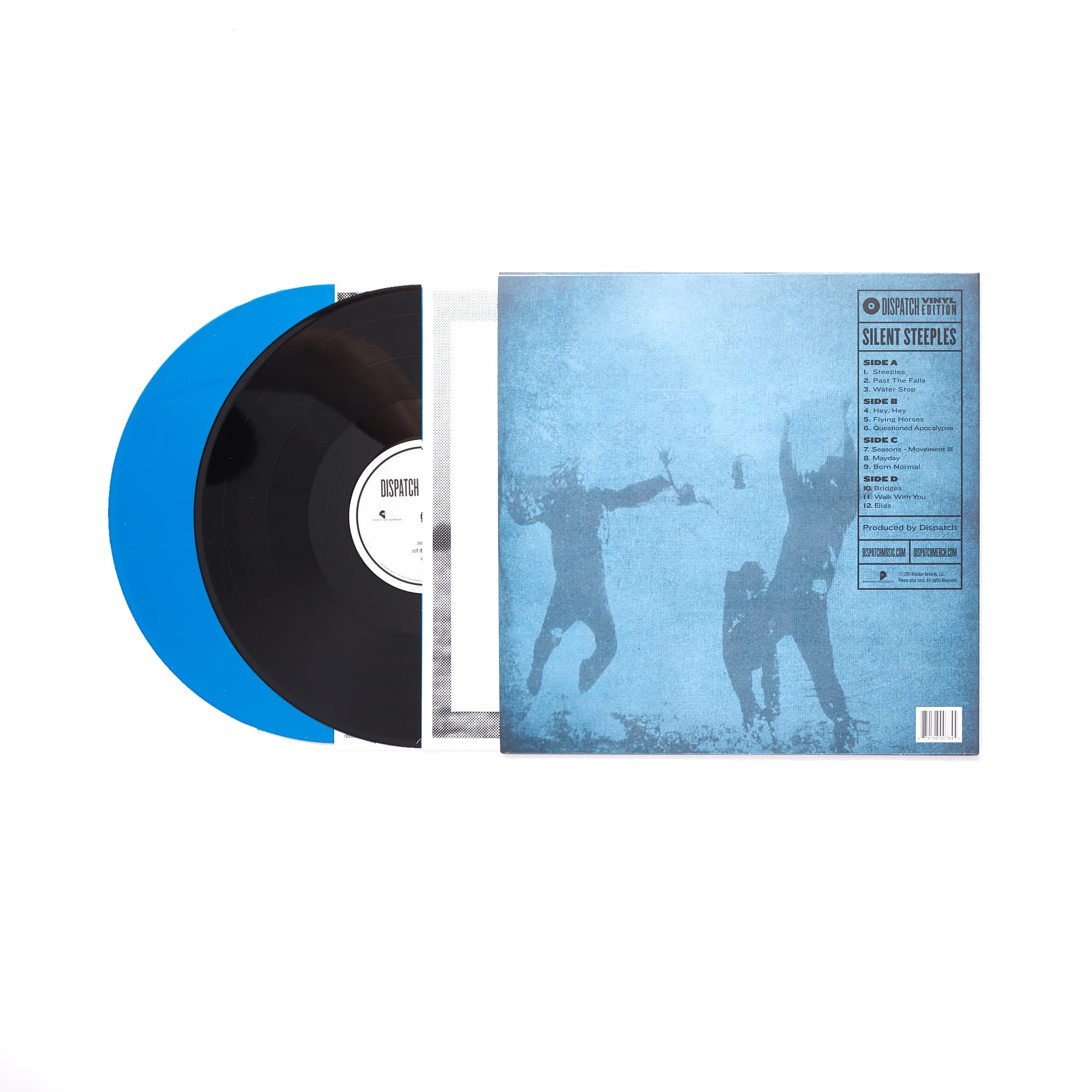 "'Silent Steeples' 12"" Double Vinyl - Blue/Black - LIMITED EDITION"