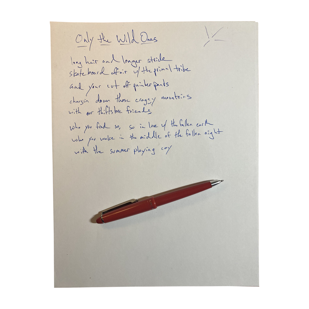 Handwritten Lyrics (Limited to 50)