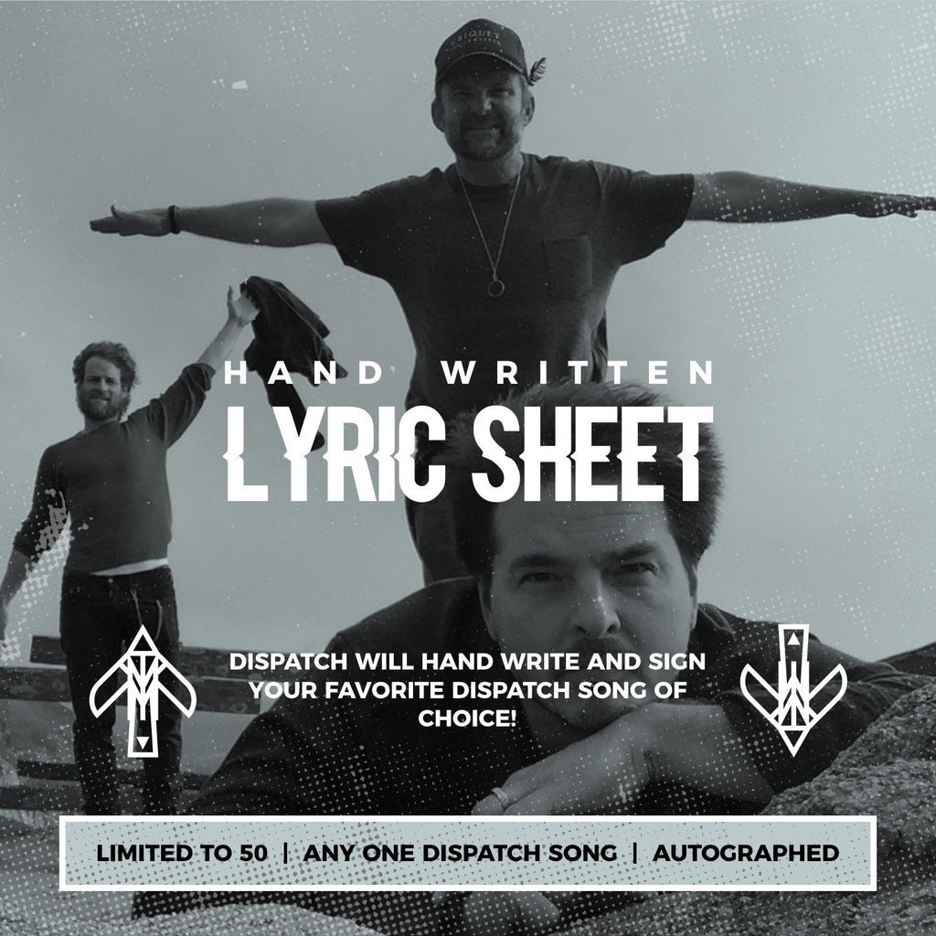 Hand Written Lyric Sheet (Limited to 50) + MP3 Download - PREORDER