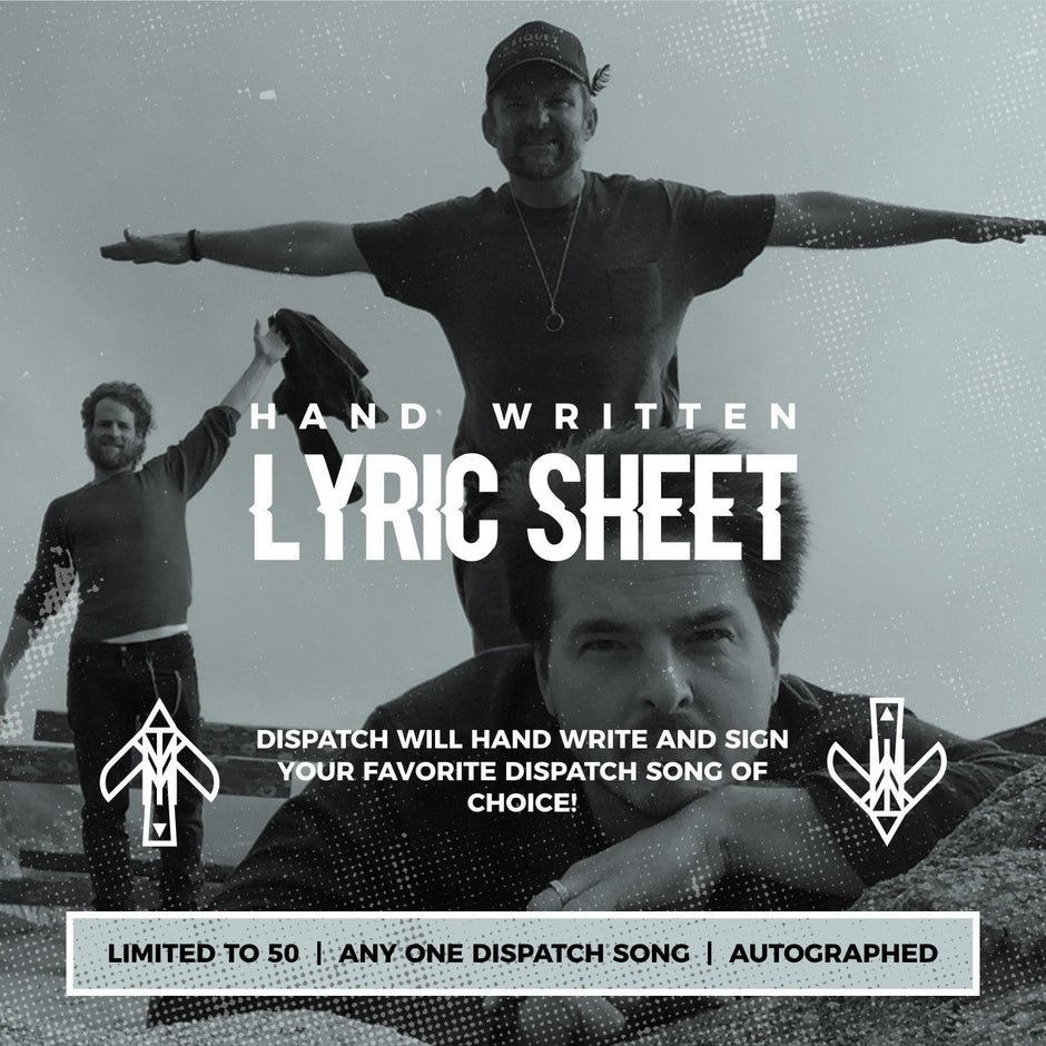 Hand Written Lyric Sheet (Limited to 50)