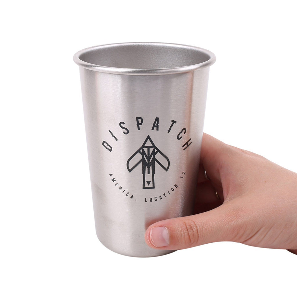 'Bird' Logo Stainless Steel Pint Glass