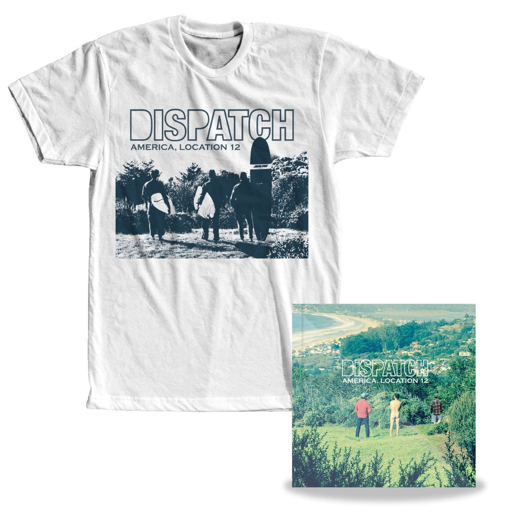 'America, Location 12' T-Shirt + CD Bundle + MP3 Download - PREORDER (ships 5/25)