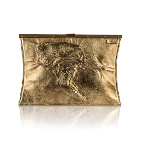 SIGNATURE SKULL Oversized Clutch