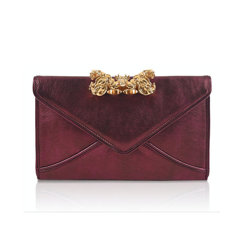 KNUCKLE RING II Envelope Clutch