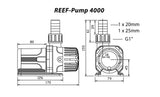 TMC REEF Pump DC 4000 Dimensions | Deep Blue Aquatics