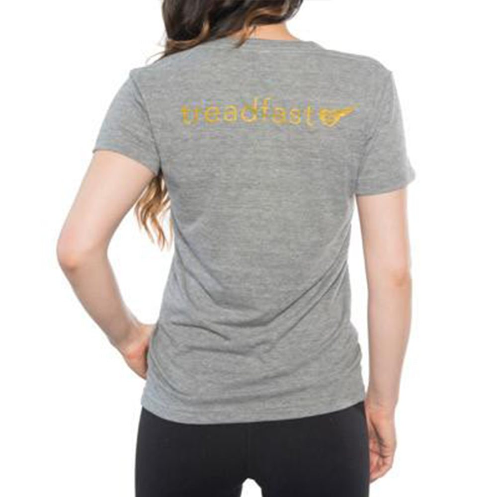 Tops - Woman's Heather Grey #BARRESTAR Tee