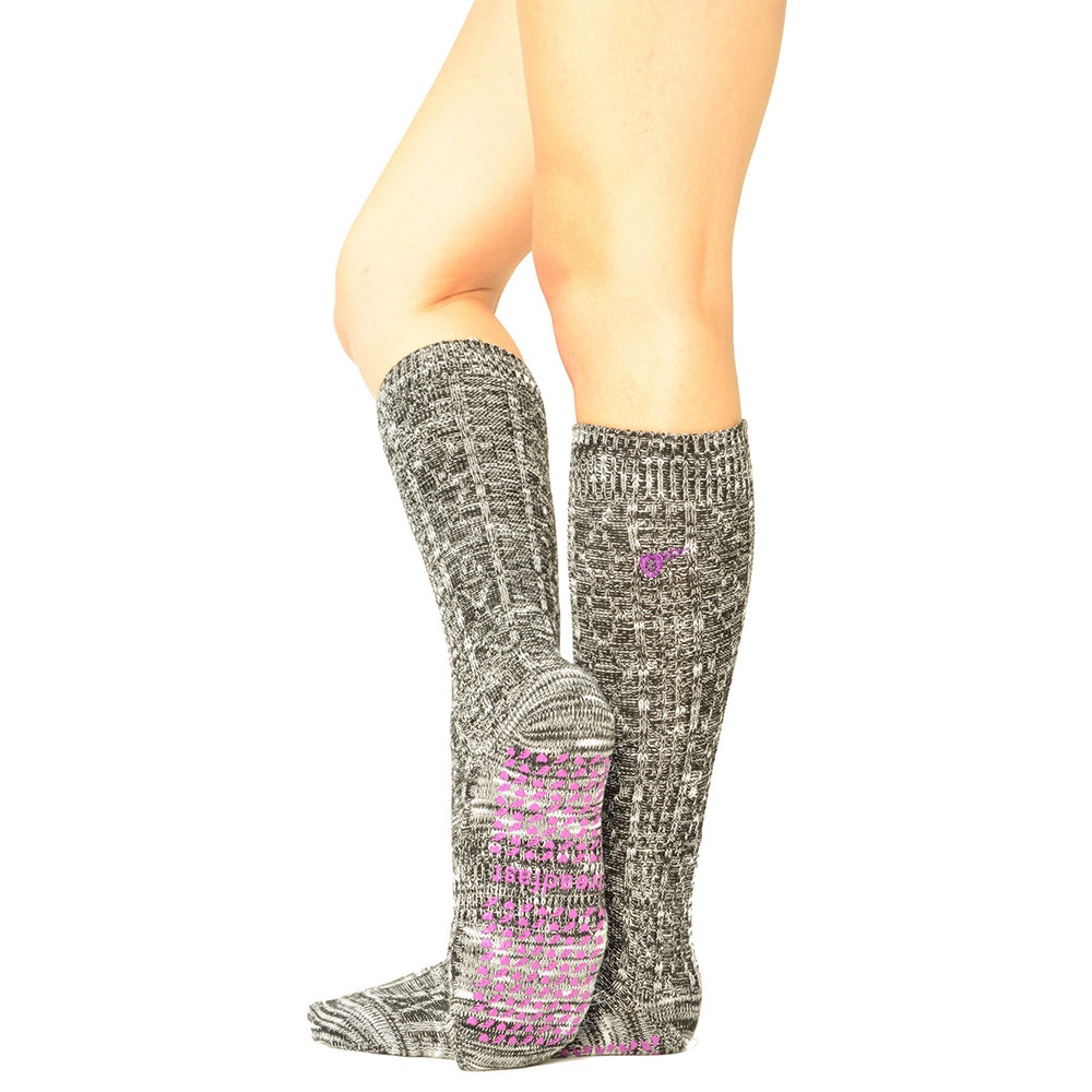 Treadfast Mary Jo Women's Knee High Barre Socks Grey Color