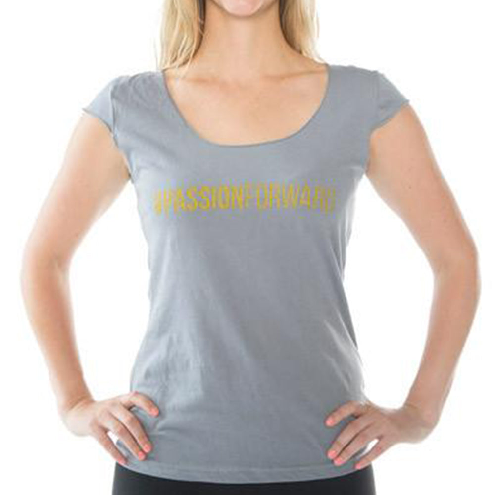 Treadfast Tops - Grey #PASSIONFORWARD Tee
