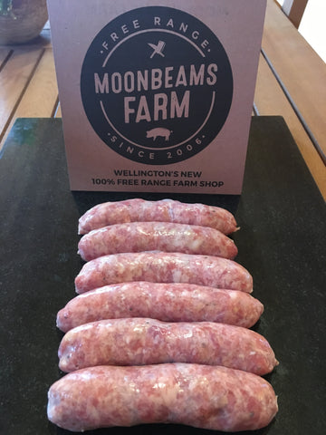 Free Range Rare Breed Cracked Black Pepper Pork Sausages