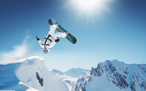 Yaktrax available at Nevado Mountain Adventures winter gear demos - test out extreme snowboarding moves with new tech