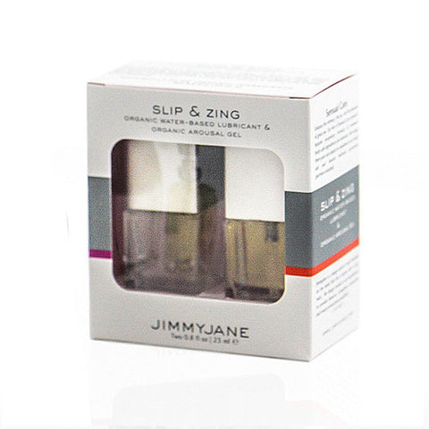 Slip and Zing Organic Water Based Lubricant and Organic Arousal Gel