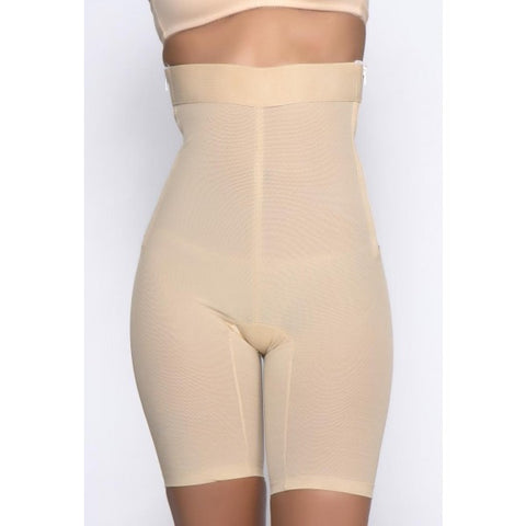 Super Firm Control Zipper High Waist Leg Shaper - Baretique  - 1