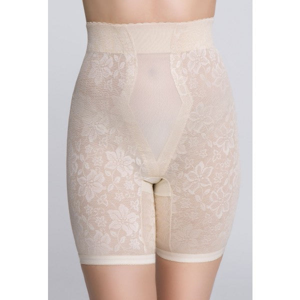 Jacquard Lace Firm Control Long Leg Shaper - Baretique  - 3