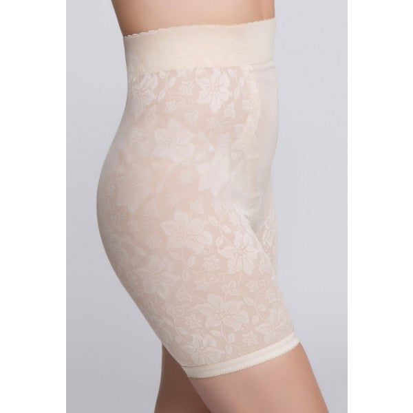 Jacquard Lace Firm Control Long Leg Shaper - Baretique  - 4