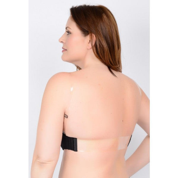Clear Back Padded Molded Bra - Baretique  - 2