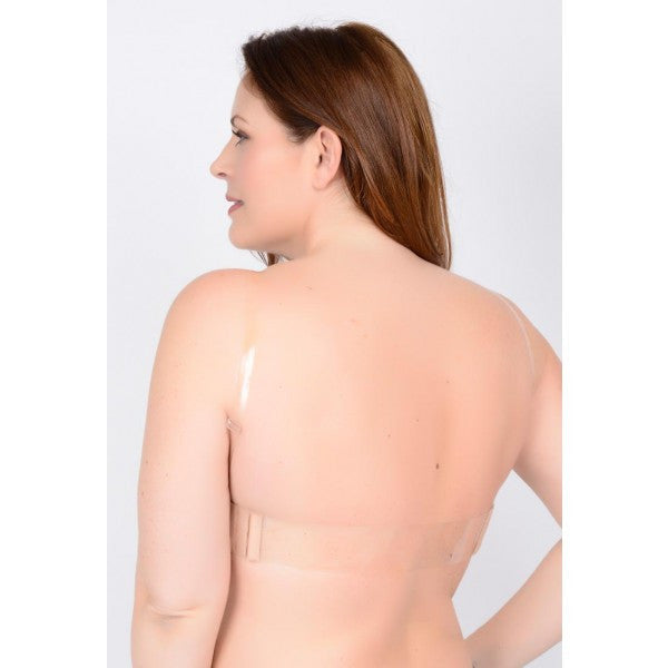 Clear Back Padded Molded Bra - Baretique  - 4