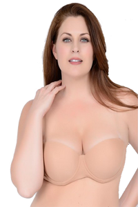 Clear Back Padded Molded Bra - Baretique  - 1