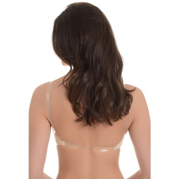 V-Neck Soft Cup Clear Back Bra - Baretique  - 2