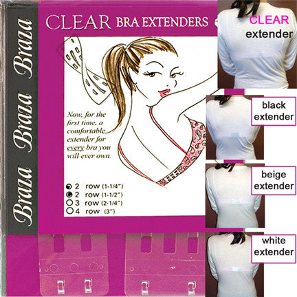 Clear Bra Extenders - Baretique