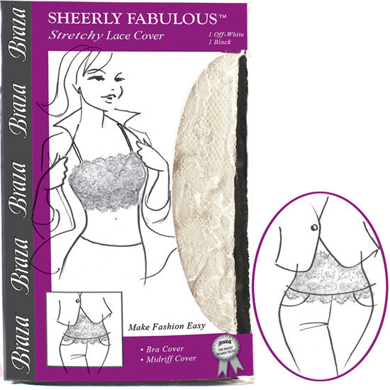 Sheerly Fabulous Stretch Lace Bandeau Bra Cover - Baretique