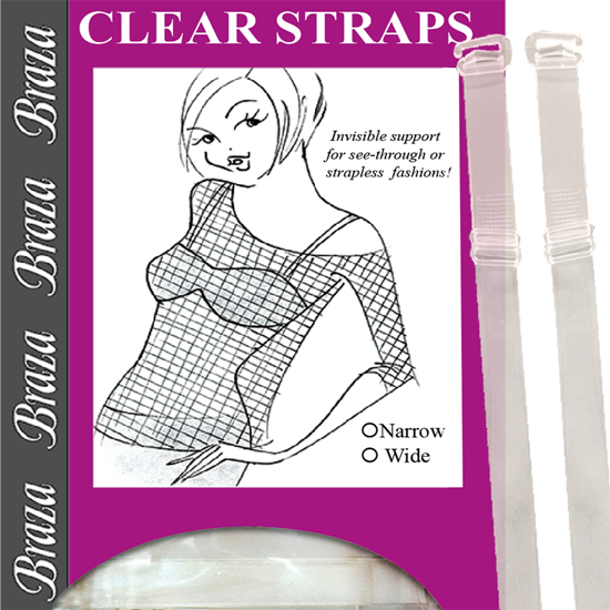 Braza Clear Straps - Baretique