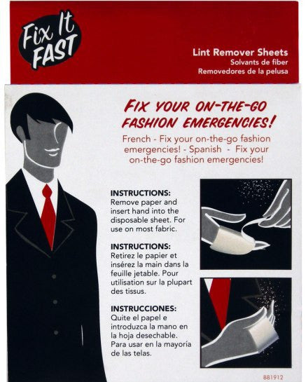 Fix it Fast Lint Remover Sheets - Baretique  - 2