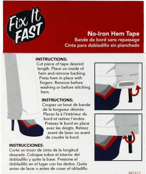 Fix It Fast Roll of No-Iron Hem Tape - Baretique  - 2