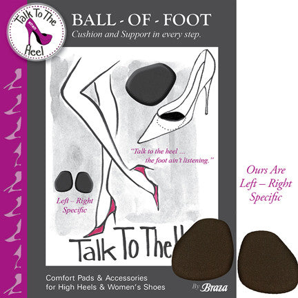 Ball Of Foot Shoe Comfort Pads - Baretique