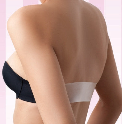 Clear Back Bra with Clear Bra Straps - Baretique  - 1