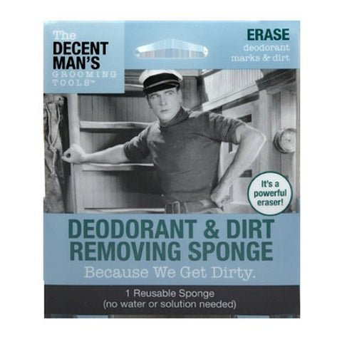 Decent Man's Grooming Tools Deodorant & Dirt Removing Sponge - Baretique