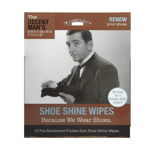 Decent Man's Grooming Tools Shoe Shine Wipes - Baretique
