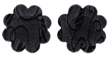 Lace Mini Nipple Covers Black