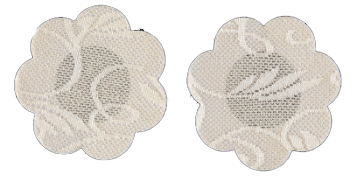Lace Mini Nipple Covers Beige