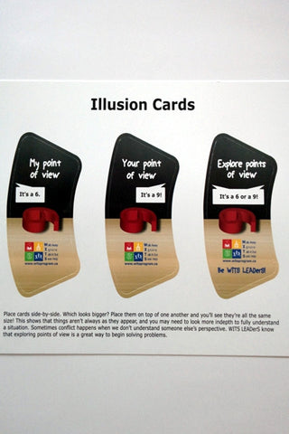 LEADS Illusion Cards (one set of 3 cards)