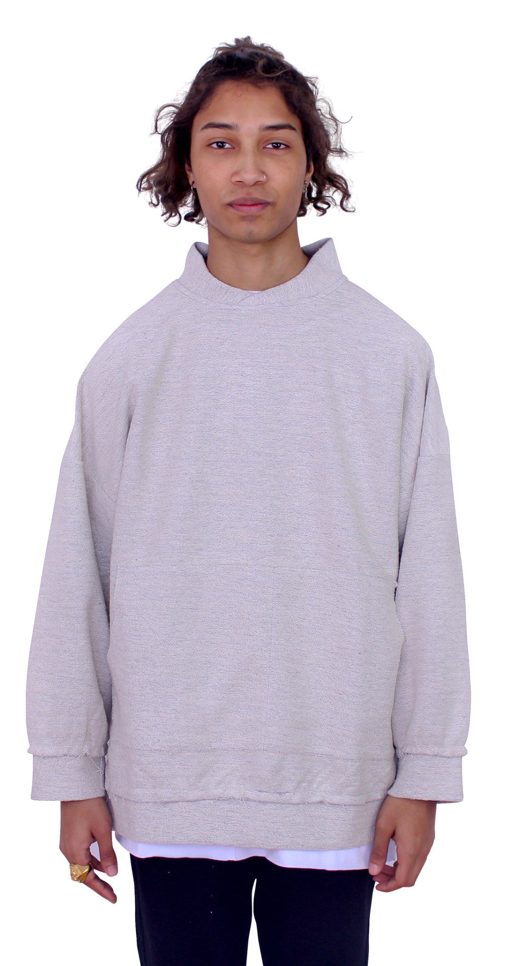 DESTROYED REVERSED PULLOVER - OFF WHITE