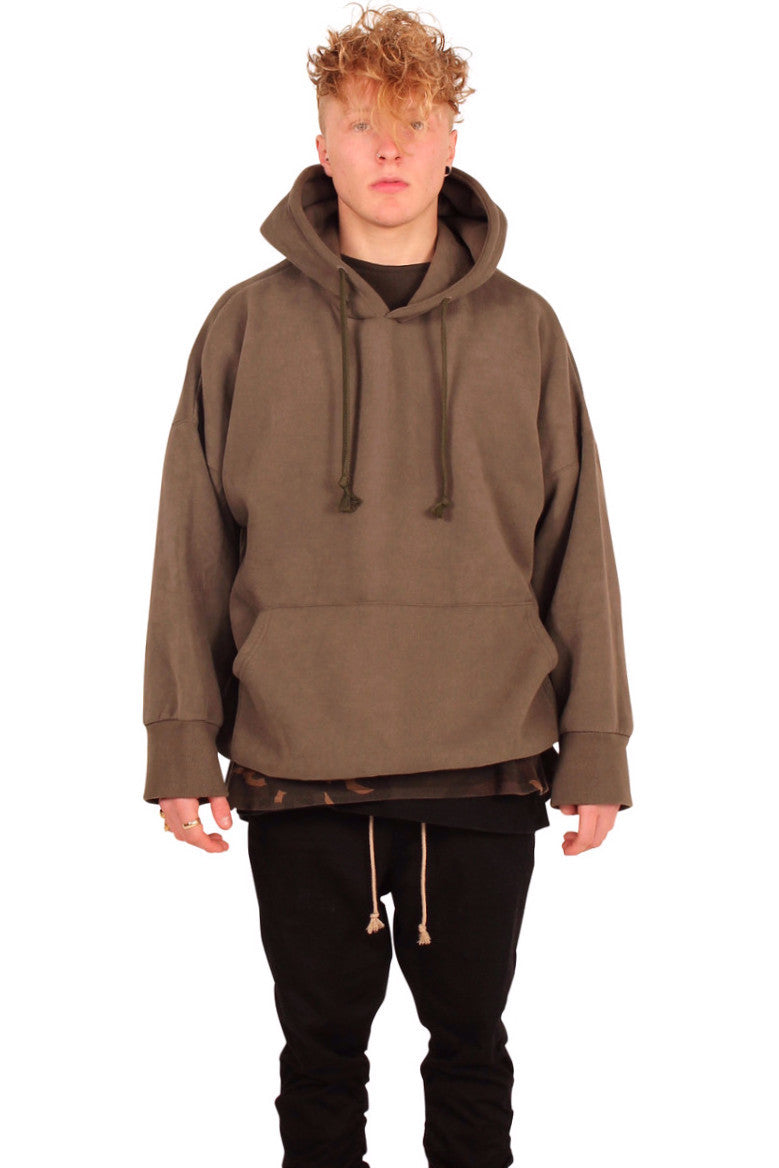 OVERSIZED OLIVE HOODIE