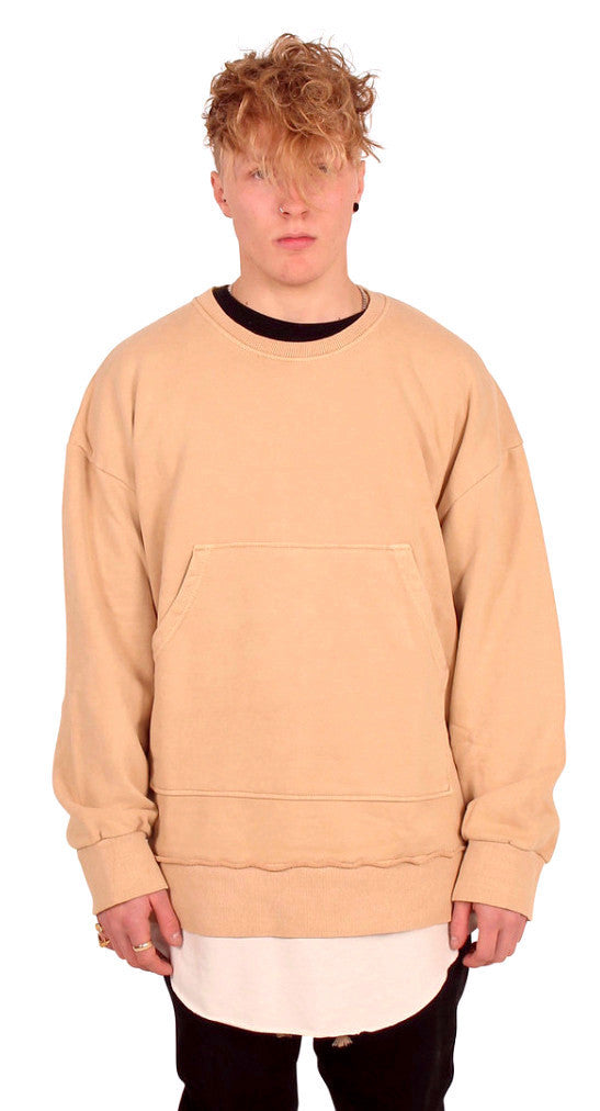DESTROYED TAN PULLOVER